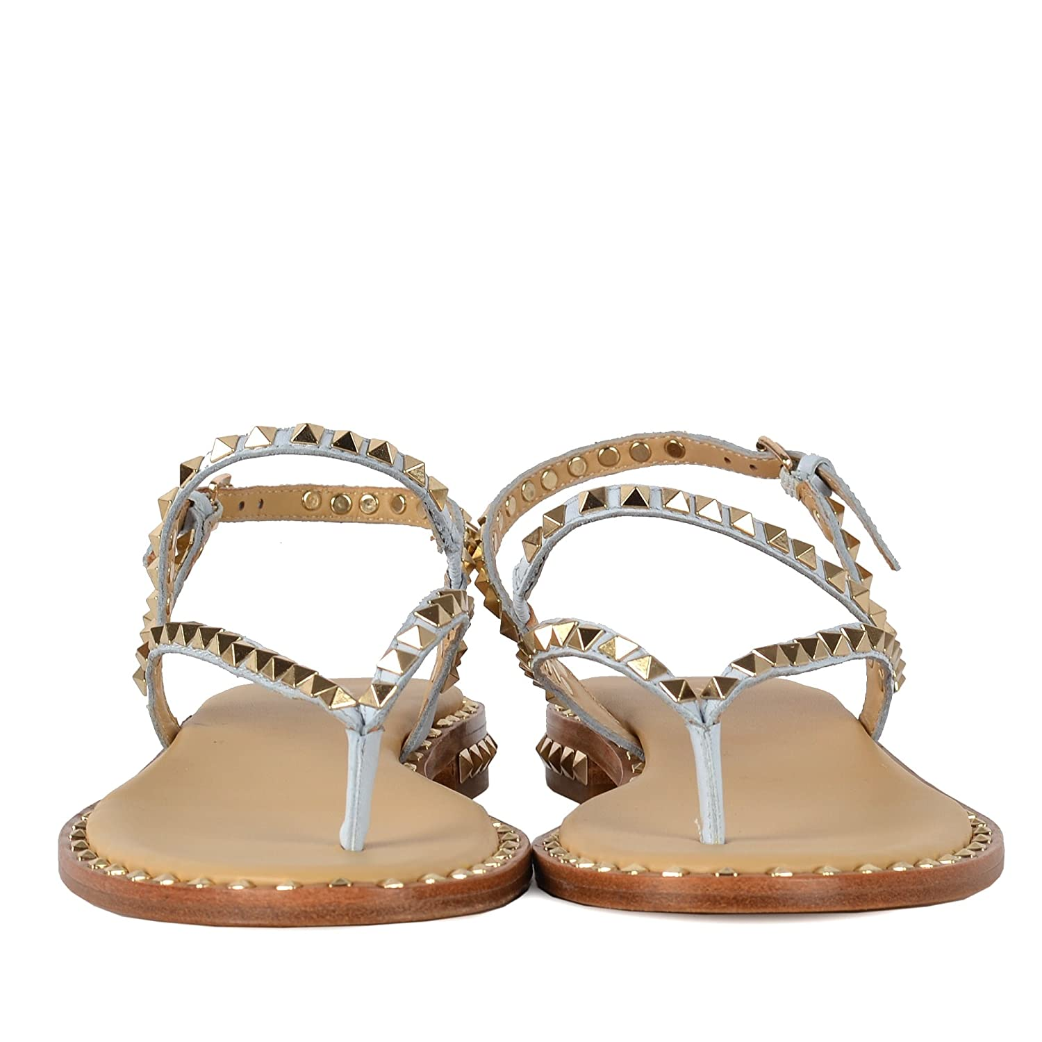 d9a2007a7aa8 Ash PEPS Sandals Ice Blue Leather Gold Studs 41 Ice Blue  Amazon.co.uk   Shoes   Bags
