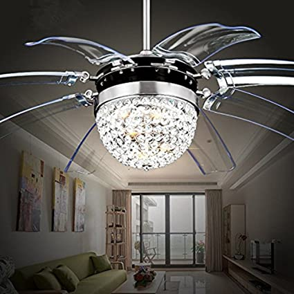 Tipton Light Silver Take Off Ceiling Fan Light 42 Inch Ceiling Fans 8  Retractable Acrylic
