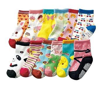 JT-Amigo Calcetines Antideslizantes para Bebés (Pack de 12 Pares): Amazon.es: Bebé