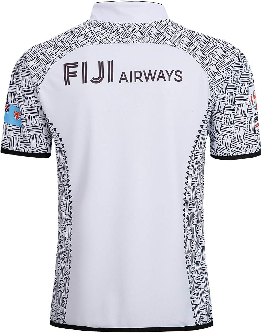 Aitry Rugby-Trikot WM-Team-Fan-T-Shirt und Ausw/ärts-Trikot von Fidschi Heim