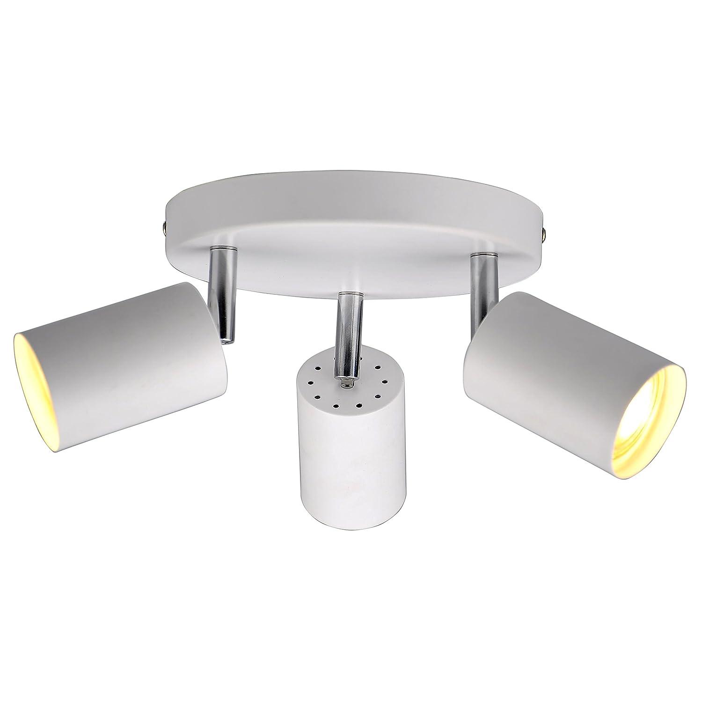 JING Modern Adjustable Single Round Plate Ceiling/Wall Spotlight InPale Grey & Chrome Finish-SPT01 Jinghao lighting