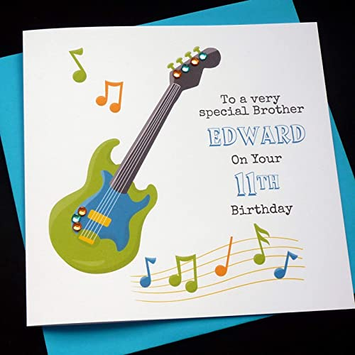 Handmade Personalised Music Guitar Birthday Card Amazoncouk