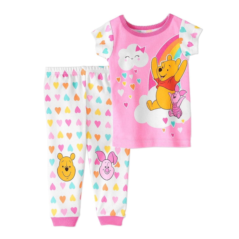 Disney Baby Winnie The Pooh and Piglet Spring Rainbow Cotton Pajama Set