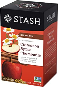 Stash Premium Herbal Tea Cinnamon Apple Chamomile - 20 Tea Bags