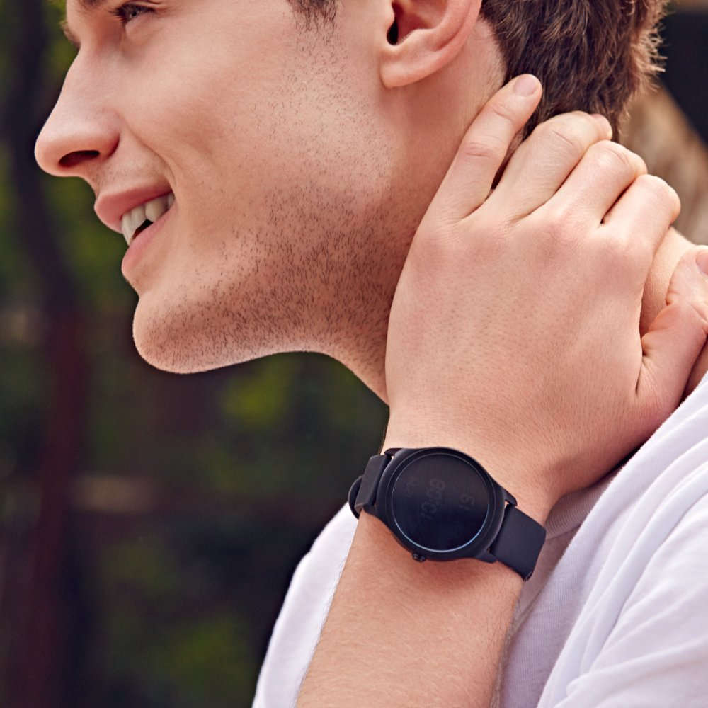 Ticwatch 2 Active 42mm Ultra Light, Silky Smooth Smartwatch - Charcoal- Mobvoi  Voice Contral Ticwear OS Compatible with Android  and iOS,Your Smart Fitness Companion by Ticwatch