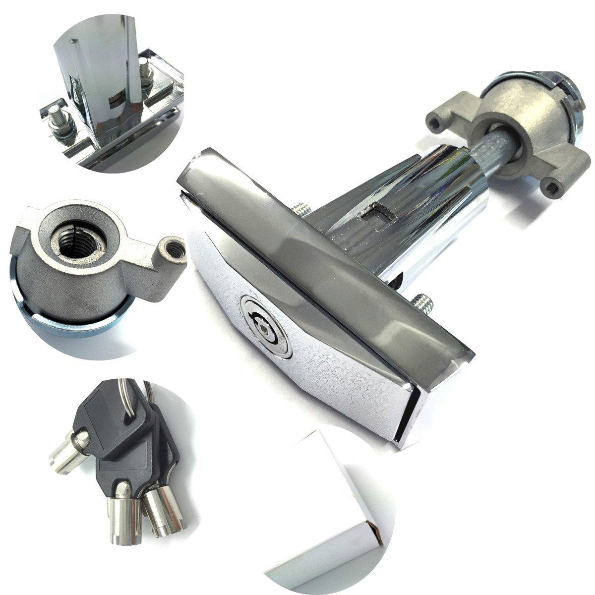 distributeurs Lock T Poign/ée pour la nourriture et machine de jeu avec 3/Tublar cl/és en alliage de zinc moul/é sous pression Liping Verrouille 2701