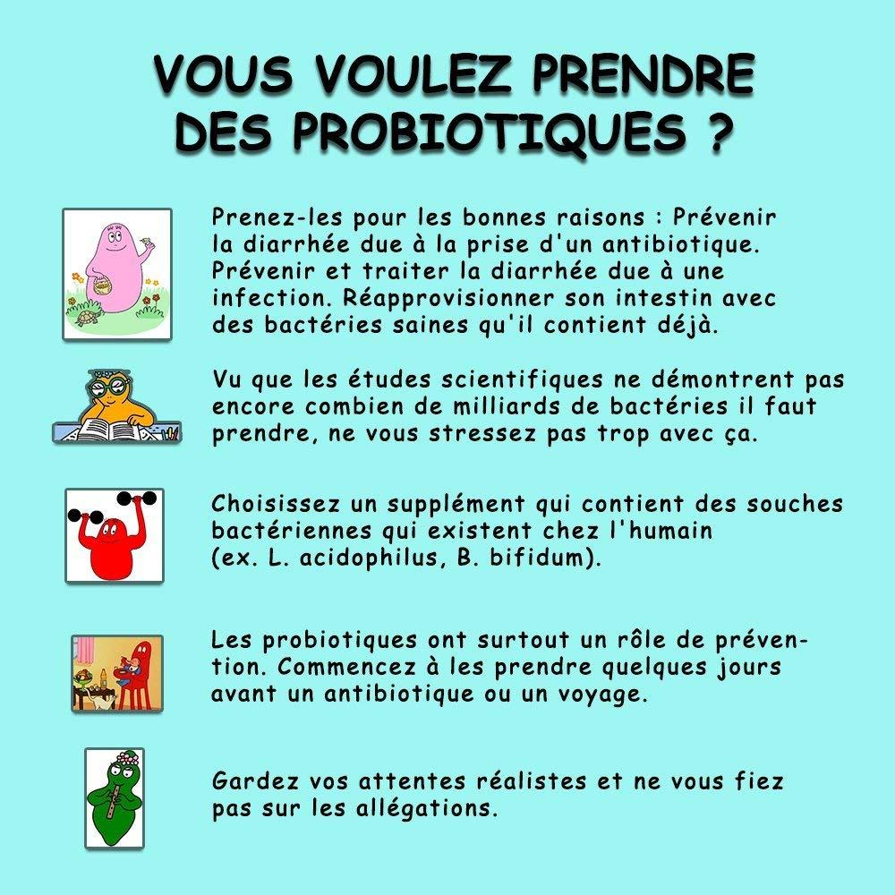 Probióticos 90 cápsulas de Oumagoodgreen-Recuperación de energía-Calidad francesa-Para mejorar el tránsito intestinal y combatir los dolores de estómago: ...