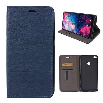 Funda Xiaomi Mi Max 2 Tapas, Mood mood Azul Magnético Flip Libro Funda de Cuero Carcasa Piel Funda Cartera de Teléfono Flip Case Cover para Xiaomi Mi ...