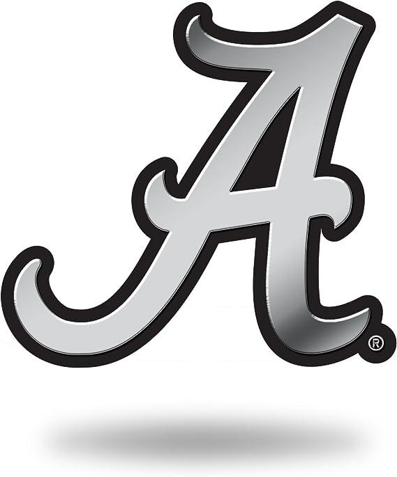 NCAA Rico Industries Chrome Finished Auto Emblem 3D Sticker Arkansas Razorbacks