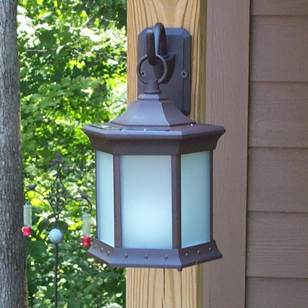 Starlite Garden & Patio Torche Co. Solar Lantern Sconce - Frosted Glass