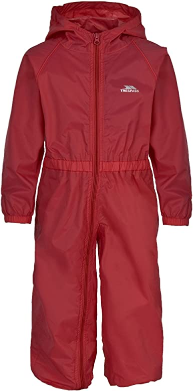 Trespass Childrens//Kids Button Waterproof Rain Suit