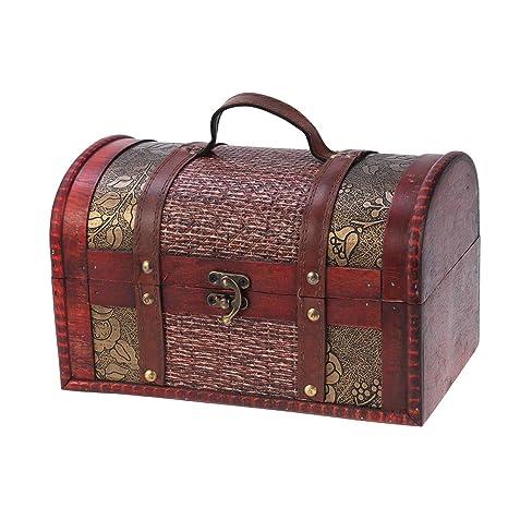 Amazon.com: Healifty - Cajas de almacenamiento de madera con ...