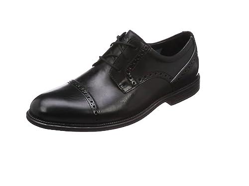 Rockport Madson Cap Toe, Zapatos de Cordones Derby para Hombre, Negro (Black)