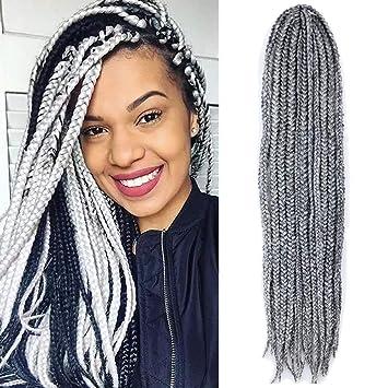 Vrhot 6packs 18 Box Braids Crochet Hair Small Synthetic Hair Extensions Twist Crochet Braids Hairstyles Braiding Hair Long Dreadlocks For Black