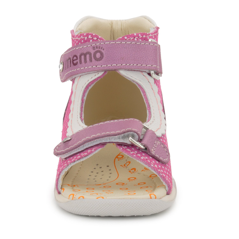 Memo Mini 1JE Baby Girl' First Walker Orthopedic Leather Anti-Slip Sandal, 19 (4 Toddler) by Memo (Image #5)