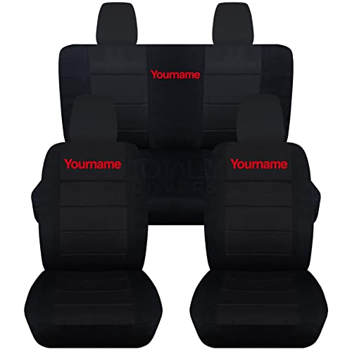 Totally Covers Jeep Wrangler JK Black Seat Covers