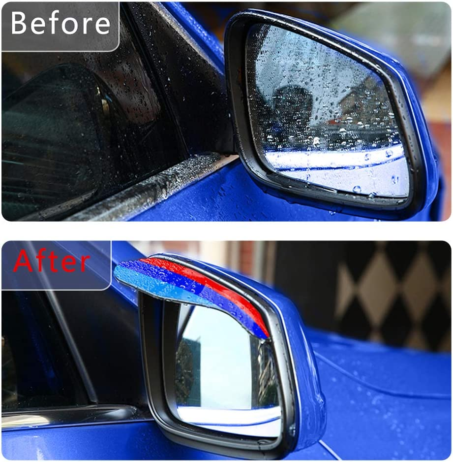 3D Colors M Front Grille Trim Strips Cover Stickers+Rear View Mirror Rain Eyebrow 5St/ück 14 Gitter F/ür 06-09 3 Serie E92 E93 Coupe /& Convertible
