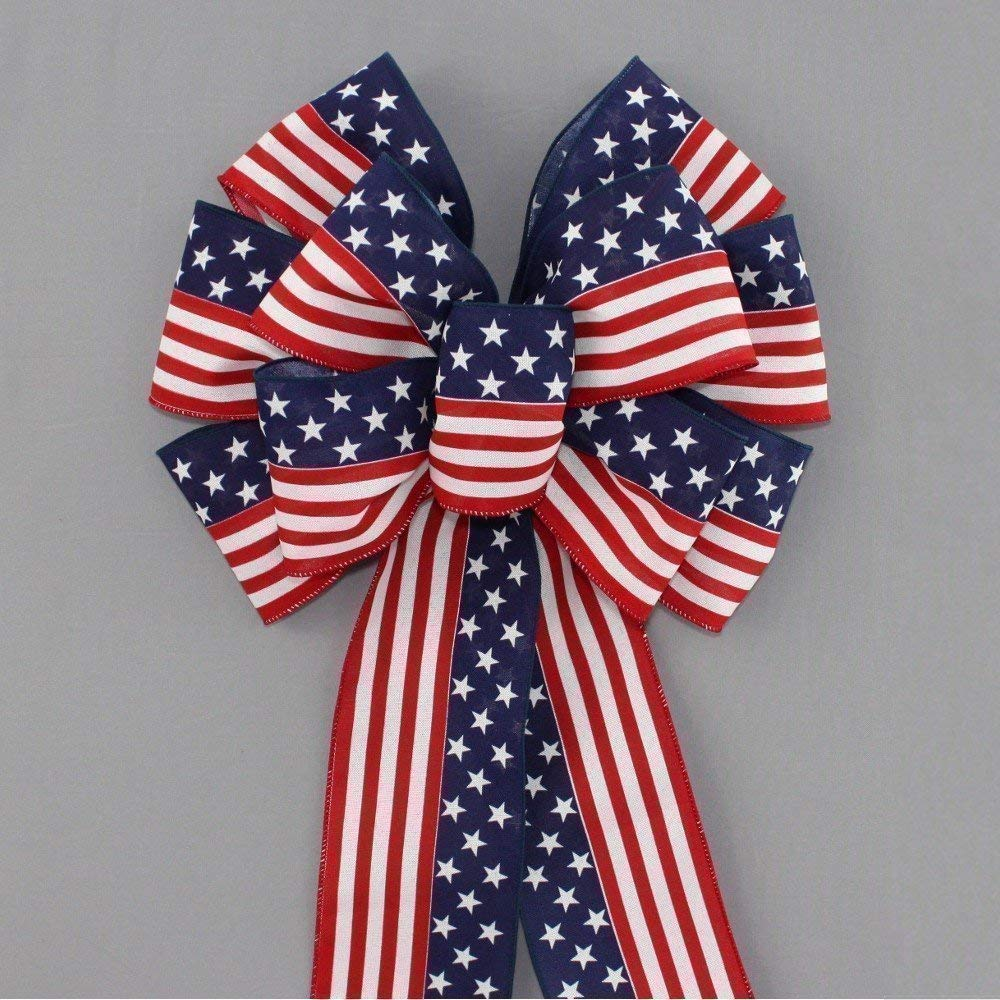 13 inch Stars and Stripes Patriotic Flag Bow