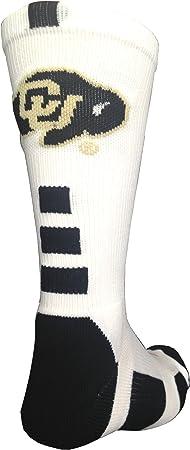 TCK NCAA Colorado Buffs Socks Baseline Crew