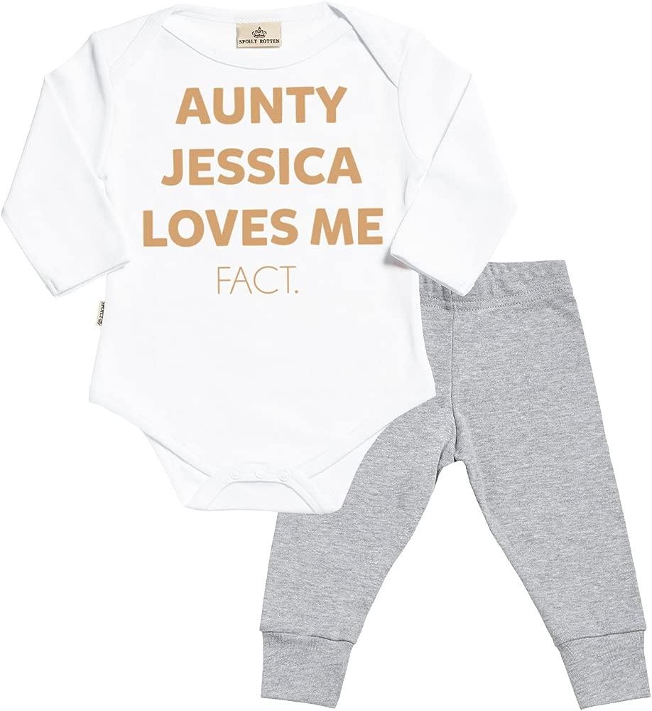 Regalos Bebe Personalizados Amazon.Personalizados Bebe Aunty Custom Loves Me Fact Baby Regalos