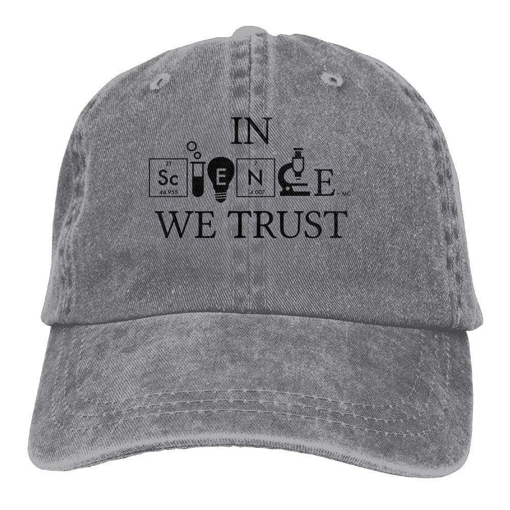 d54389920b3 Amazon.com  XZFQW Infant in Science We Trust Trend Printing Cowboy Hat  Fashion Baseball Cap for Men and Women Ash  Clothing