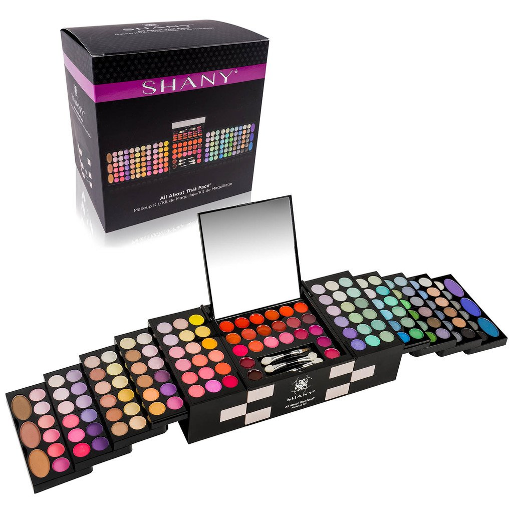 SHANY 'All About That Face' Makeup Kit - All in one MakeupKit - Eye Shadows, Lip Colors & More