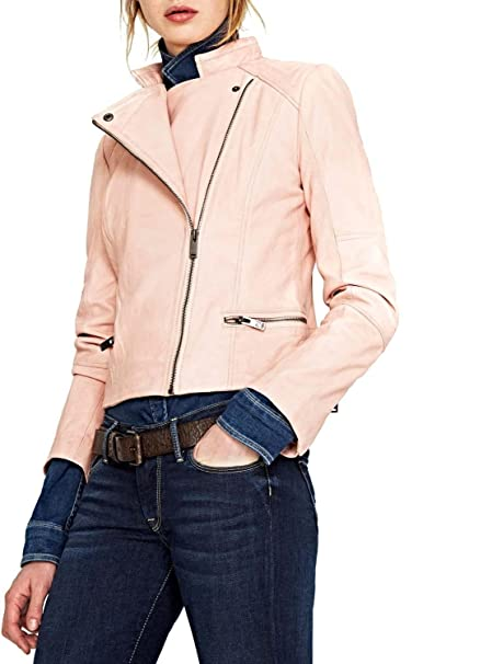 new product b5894 7d502 Pepe Jeans - Giacca - Donna Rosa cipria M: Amazon.it ...