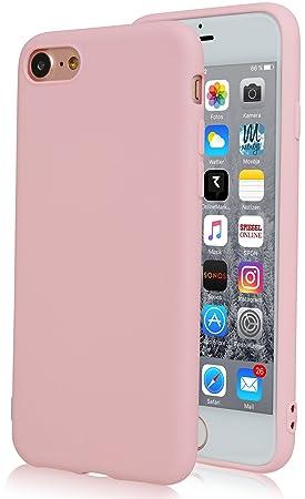 Movoja Rosé/Rosa matt Hülle kompatibel mit iPhone 6     Bekannte Passform   Schutzhülle Matt Case Cover - matt Rosa