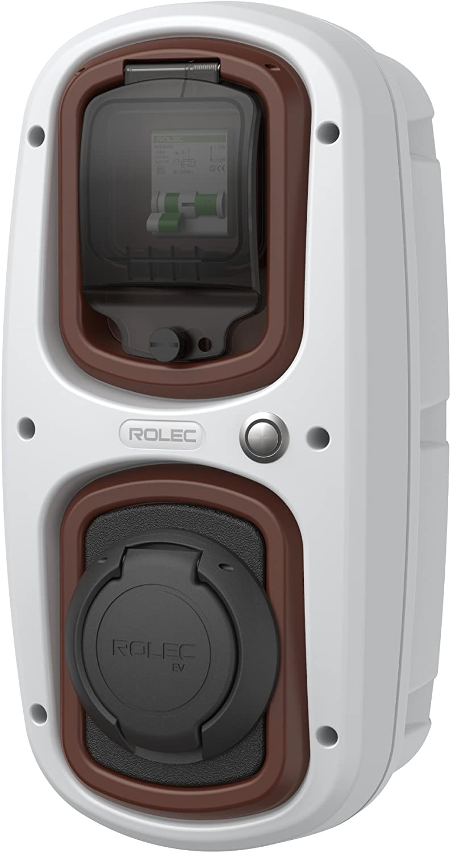 WallPod Charging Unit 32 Amp Type 2 Socket Colour White//Grey EV//Electric car
