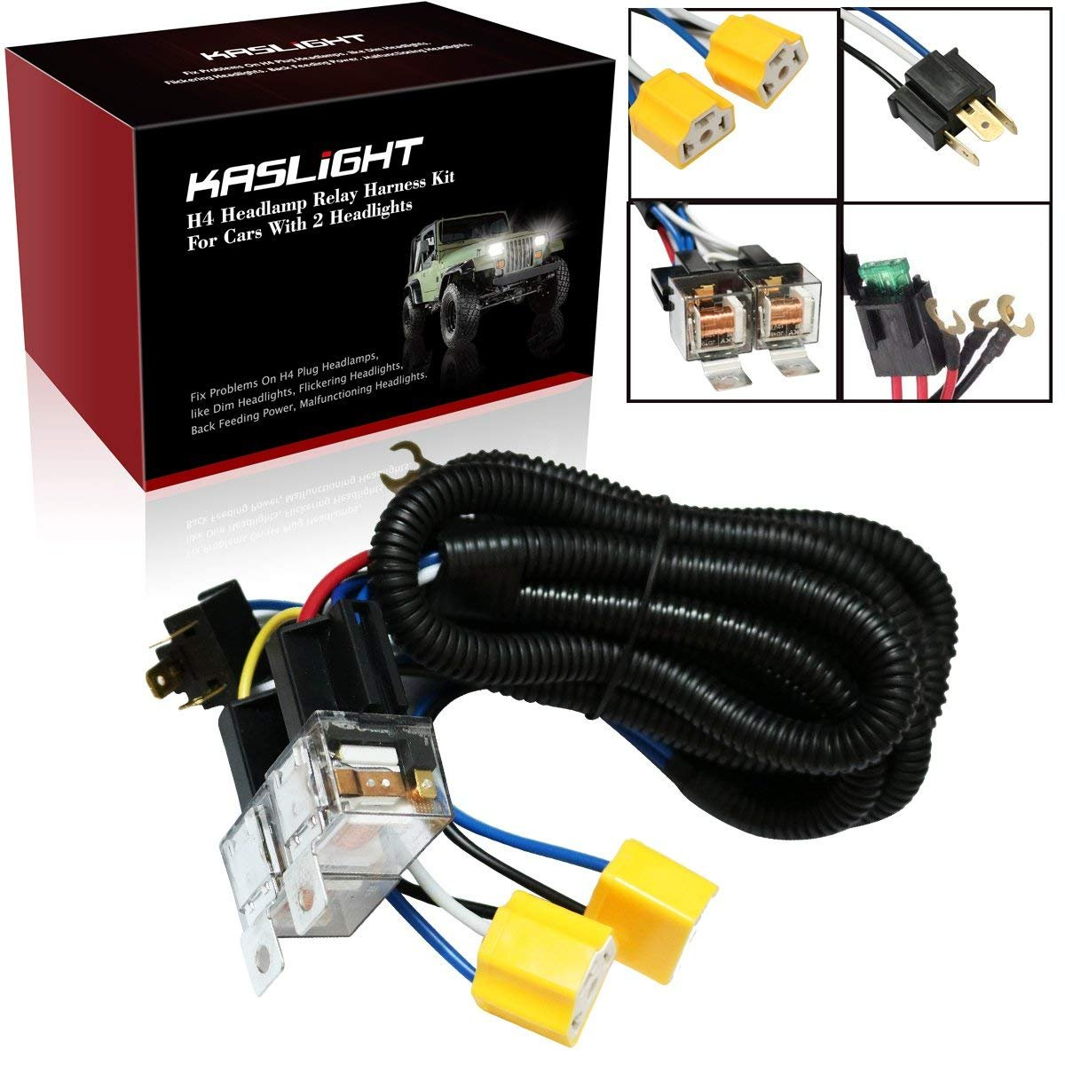 Best Rated In Automotive Replacement Switches Relays Helpful H4 Headlight Relay Wiring Diagram 1set 2 Headlights Harness H6054 1992 Toyota Pickup 7x6