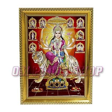 Indigo Creativs Handcrafted Terracotta Small Elegant 3 Durga Mata