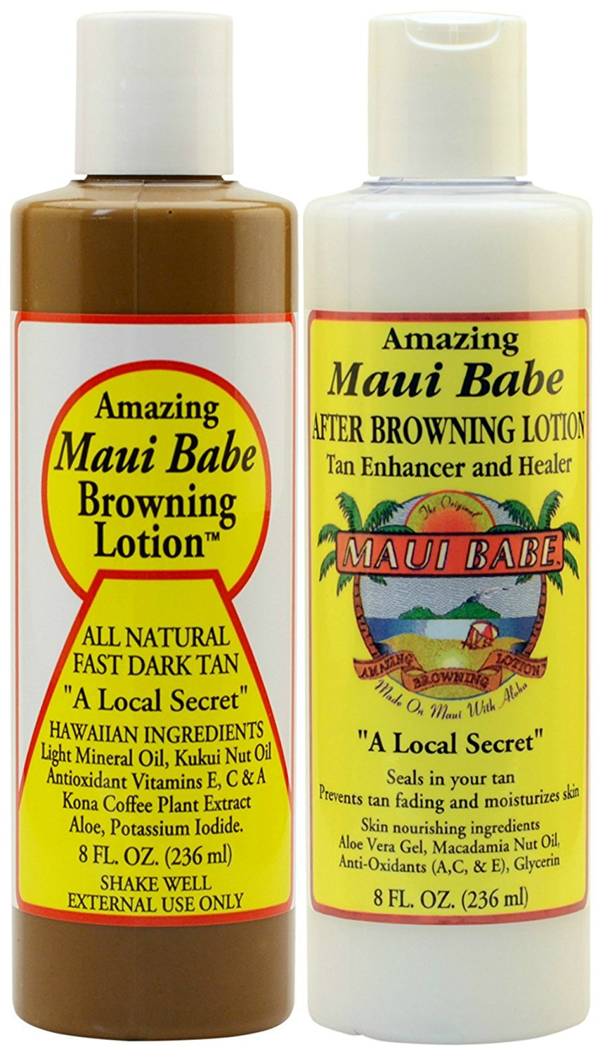 Maui Babe Before and After Sun Pack (Browning Lotion 8 oz, After Browning Lotion 8 oz) by Maui Babe