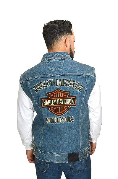 Amazon.com: HARLEY-DAVIDSON Mens Bar & Shield Logo Blue ...