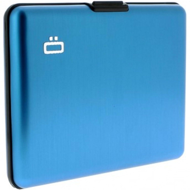 Ögon BS-Carbon Geldbörse Big Stockholm wallet Aluminium eloxiert, blau (Blau) - BS-Blue Ogon Ögon Designs