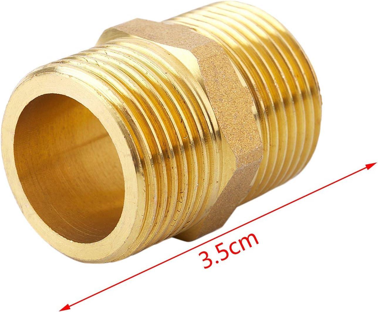 3//4 x 3//4 pouce union tuyau de connexion fil du mamelon menuisier raccord en laiton BSP m/âle