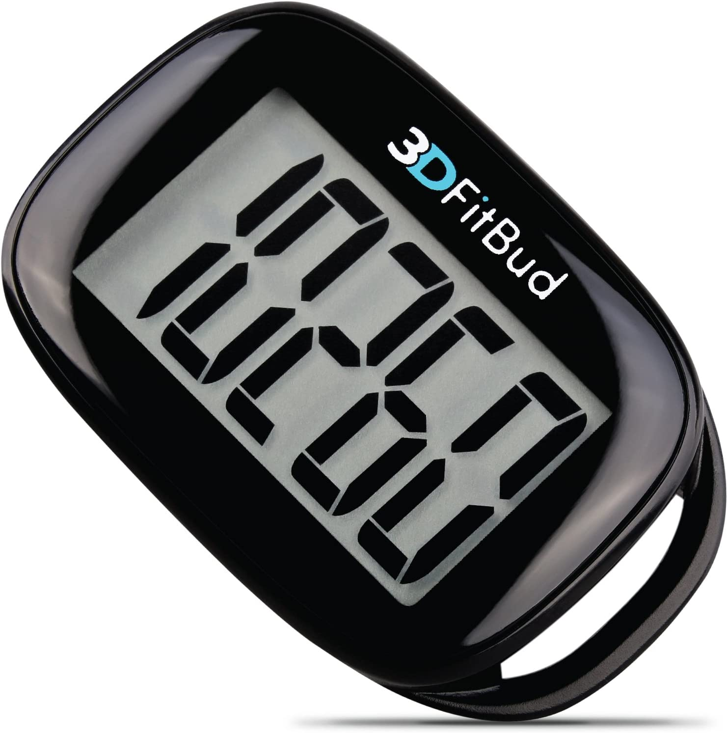 3DFitBud Simple Step Counter Walking 3D Pedometer with Clip and Lanyard A420S