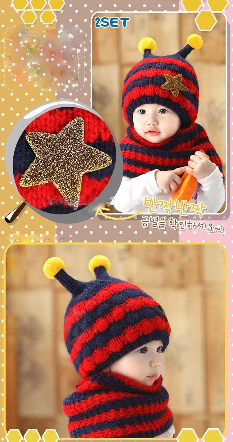 Grey SevenPanda Winter Beanie Child Baby Girls Boys Kids Cozy Unisex Fox Hat Hooded Scarf Earflap Knitted Wool Scarf Head Scarf Neck Warm Cap