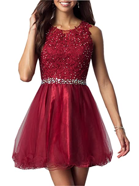 Review ESY Heartgown Women's Sequins Beaded Short Party Dress Ruffles Homecoming Dress
