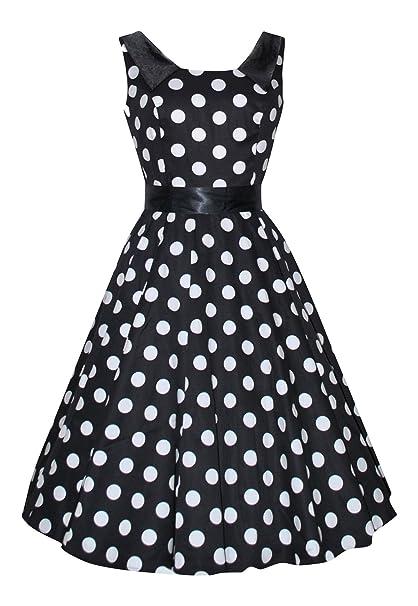 Hearts & Roses - Vestido - Campana - para mujer Negro negro 36