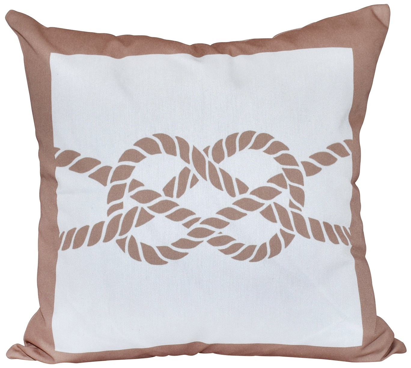 Pillow Beige//Taupe E by design O5PGN407TA8-18 18 x 18 Nautical Knot