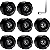 TOBWOLF 8 Pack 58mm x 32mm, 82A Outdoor/Indoor Quad Roller Skate Wheels, Durable Wear-Resistant PU Wheels Replacements…