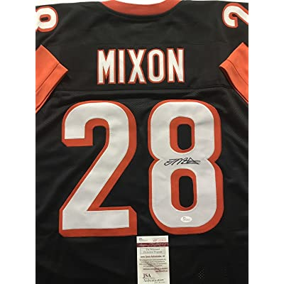 best website c2494 e1e2b Autographed/Signed Joe Mixon Cincinnati Bengals Black ...