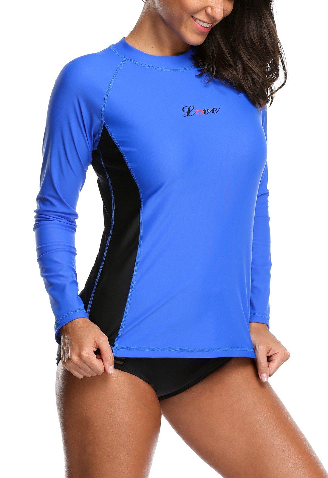 ALove Surf Shirt Rash Guard UPF 50 Athletic Top Womens Surf Rashguard Long Sleeve Medium by ALove (Image #3)