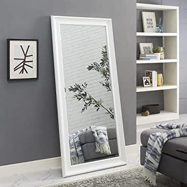 Naomi Home Framed Mirror White/65  x 31
