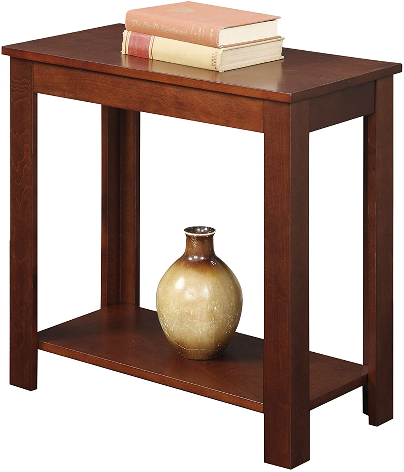 Convenience Concepts Designs2Go Baja Chairside End Table, Mahogany