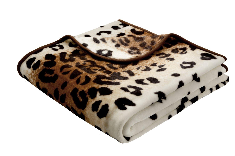Bocasa by biederlack 444-078 biederlackborbo 39992 De Luxe, Leopard mehrfarbig circa 180 x 220 cm 85% Polyacryl, 15% Polyester