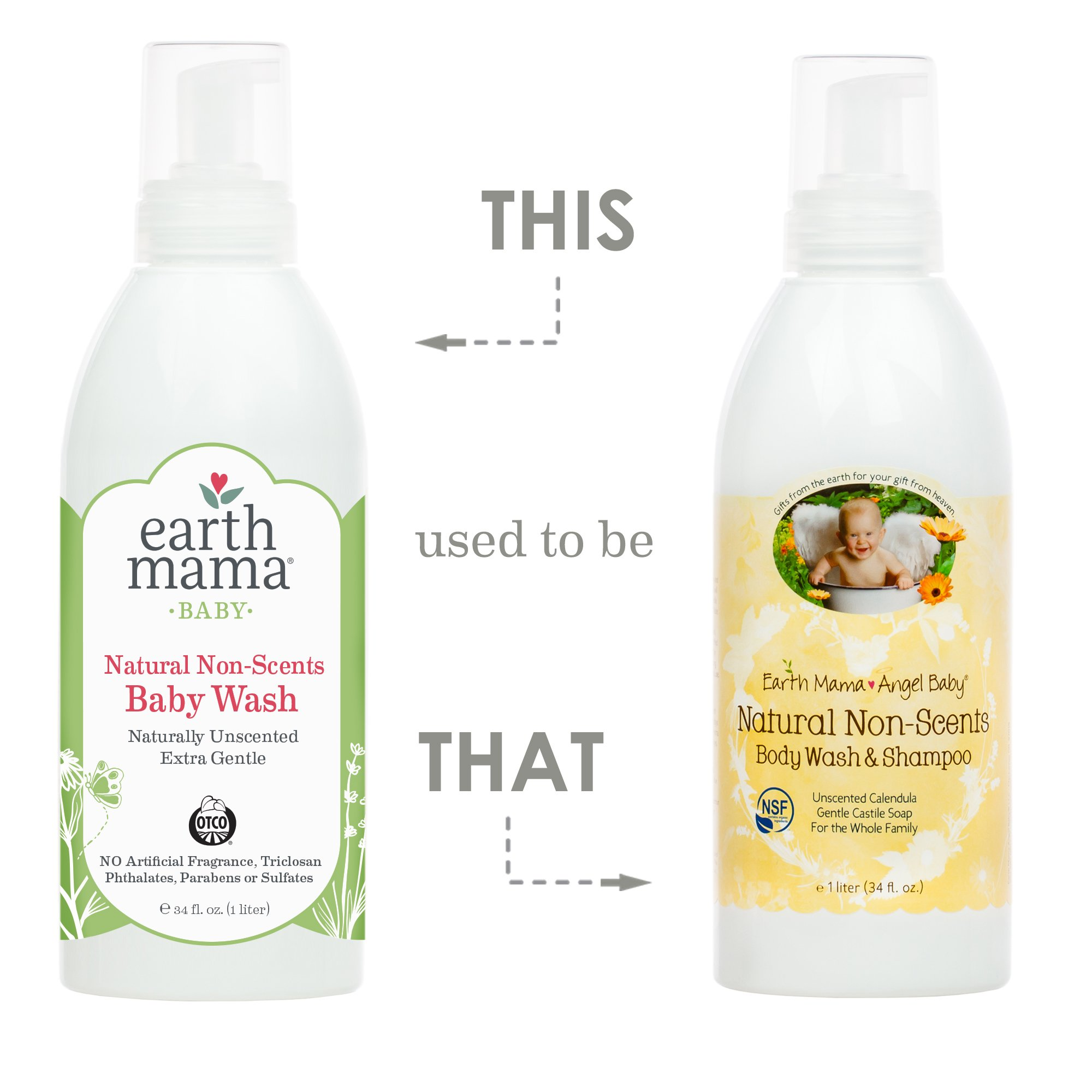 Earth Mama Natural Non-Scents Baby Wash Gentle Castile Soap for Sensitive Skin, 34-Fluid Ounce by Earth Mama (Image #3)