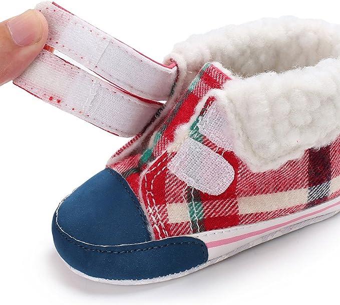 Botas de Cuero Nieve Impermeables, Zapatos para Bebé Primeros Pasos Botines Planos Espesar Moda Zapatillas de Lana Antideslizante Unisex Mocasines: Amazon.es: Ropa y accesorios