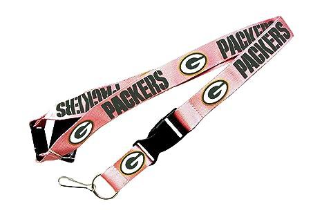 Amazon.com : NFL Green Bay Packers Team Logo Lanyard Keychain Id ...