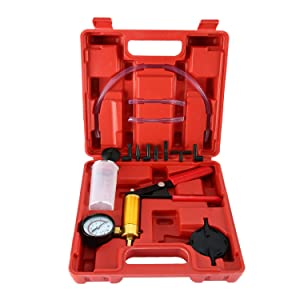 8MILELAKE Brake Fluid Bleeder Hand Held Vacuum Pistol Pump Tester Kit